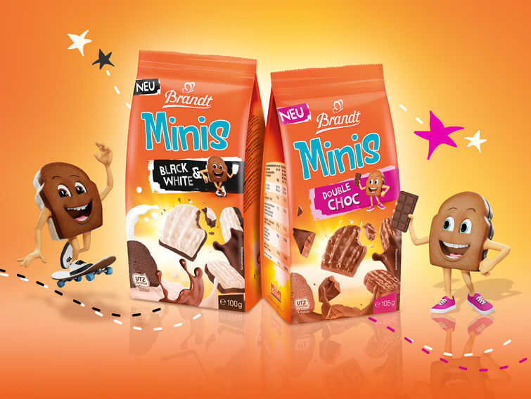 brandt minis black white und double choc